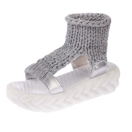 Wholesale Denim Wedges - Fashion Shoes Women Sandals Summer Shoes Sandals Platform Flip Flops Gladiator Bottom Women Shoes Footwear Heeled
