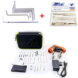 Wholesale Tension Wrenches - KLOM Cordless Electric Lock Pick Gun Auto Pick Guns Lockpicking Locksmith Tools with credit card lock pick + 5pcs Tension Wrenches