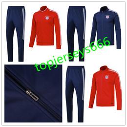 Wholesale Beige Suits - top quality 17 18 JAMES VIDAL MULLER LEWANDOWSKI soccer tracksuits training suit 2018 ROBBEN GOTZE BOATENG COATA ALABA football jacket kit