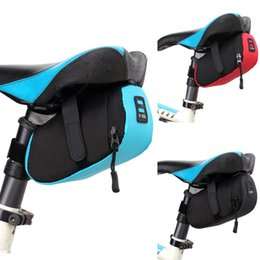 Wholesale saddle bag blue - Bicycle Bag Bicycle Bike Waterproof Storage Saddle Bag Seat Cycling Tail Rear Pouch Bag Saddle Bolsa Bicicleta