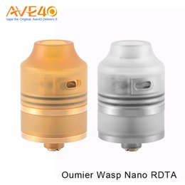 goutte à goutte rdta Promotion Authentique combinaison OUMIER WASP Nano RDTA pour réservoir 2ml pour 510 goutteurs