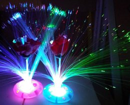 Wholesale Wholesale Fiber Optic Lighting Supply - Colorful fiber optic lights stars Gypsophila luminous lantern party festive supplies children 's toys LED Toys Fiber flowers 24set lot