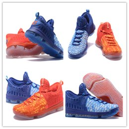 Wholesale Kds Shoes Cheap - 2016 new KD9 What the KD 9 Fire & Ice Basketball Shoes Men Cheap Kds Kevin Durant 9 Sneakers