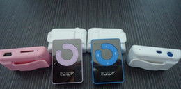 Wholesale Mini Mirror Mp3 - Mini Mirror Clip USB Digital MP3 Music Player Support SD TF Music Play with TF-Card Slot