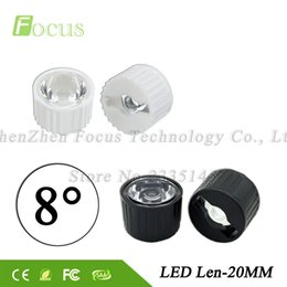 Wholesale led holder lens - 50sets lot 1W 3W 5W LED Lens 8 Degree Smooth Surface PMMA 20mm Lenses + 22mm Bracket with Holder For Light beads Free Shipping