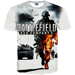 Wholesale Soldiers Fashion - 3D T shirts Hip Hop T shirt for men tees print battlefield soldier tank Helicopters 3D t-shirt summer tops Asia M ~ XXL