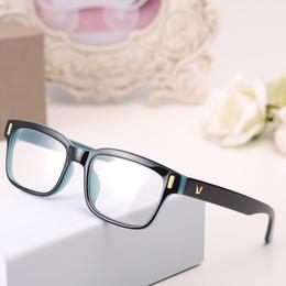 gafas para animales Rebajas Al por mayor-2016 Moda V-Shaped Box Eye Glasses Frames marca para hombres Nuevas mujeres marcos de la computadora Eyewear Vintage Armacao Oculos De Grau