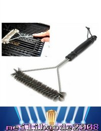 Wholesale Long Cast - Barbecue Grill Brush with Heavy Duty Stainless Steel Wire Bristles Safe For Porcelain & Cast Iron Grates and Long Handle To Protect MYY