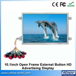 Vente en gros - 10 pouces réel 1080P équipement de magasin de détail cadre ouvert externe bouton lecteur multimédia HD publicité numérique ? partir de fabricateur