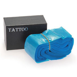 Wholesale Disposable Sleeves - Wholesale- Professional 100pcs Lot Disposable Blue Color Tattoo Clip Cord Bags Sleeves CoversTattoo Power Supply 24*80mm
