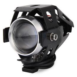 Wholesale Cree Motorcycle Lights - 2PCS Cree U5 Motorcycle Motorbike 12V LED Headlights Headlight Waterproof Spot Light Laser Cannon Spotlights 160274801