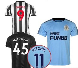 Wholesale United Soccer Shirt - tOP quality 2017 2018 Newcastle United soccer jerseys 17 18 Mitrovic Perez Ritchie Gayle home away 3rd black football shirt DE FOT