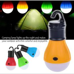 Lámpara de camping LED al aire libre Tienda de campaña Bombilla de luz ABS Lámpara de bombilla de camping low energy ahorro de energía 3 x AAA Lámpara de batería Battery + B desde fabricantes