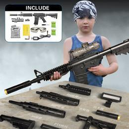 Wholesale Electric Soft Gun - Electric Plastic Toy Paintball Water Gun Even Children's Toys Creative DIY Assembled Toy Gun Soft Bullet Gun G960A