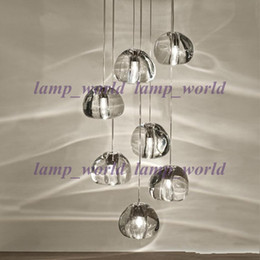 Wholesale Clear Glass Ball Pendant Lights - G4 BULBS MODERN CLEAR   GOLD CRYSTAL GLASS SPHERE BALL CHANDELIER MIZU 3 HEADS PENDANT LIGHT CEILING LAMP WITH ROUND STAINLESS STEEL BASE