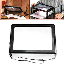 Wholesale magnifying glass illuminated - Hands Free 3x Magnifying Glass With Light & Neck Cord LED Illuminated Magnifier Battery Powered For Reading Sewing Crafts Handcraft Repair