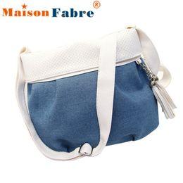 Wholesale Wholesale Plain Tote Bags Cheap - Wholesale-Brand new Women Bags 2016 Cheap Lady Denim Shoulder Bags Tote Tassels small Messenger Bag