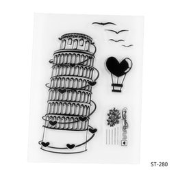 Wholesale Decorative Stamps - Wholesale- The Leaning Tower of Pisa Transparent Clear Silicone Stamp seal for DIY Scrapbooking photo Album Decorative Clear Stamp Sheets.