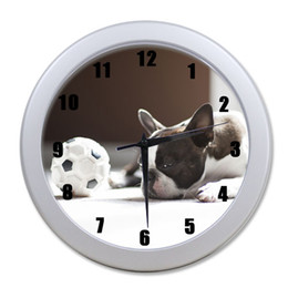 "Wholesale Unique Wall Clocks - Wholesale-Optional! Funny French Bulldog 9.65"" elegant wall clock for Home Decoration And Unique Gift for decoration!"