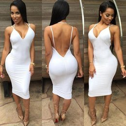 Wholesale Sexy Revealing - Autumn And Winter New Product 2015 Suit-dress European Camisole Deep V Lead Reveal Back Irregular Package Buttocks Dress