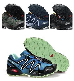 Wholesale Solomon Speedcross - 2017 Solomon Zapatillas Speedcross 3 Running Shoes for Men Athletic Trainers Trail Racing Sports Shoes Anti-Skid Mountain Climbing Shoes