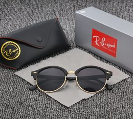 Wholesale Oval Boxes - 4246 Brand Retro round sunglasses women men 2017 New steampunk Sun glasses Half-metal frame G15 uv400 lens with Original Box and accessories