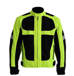 Wholesale Reflective Motorcycle Jackets - Wholesale- Hot Sale Breathable Men's Summer Motorcycle Jacket Best Quality Motorcycle Clothing Waterproof Reflective Jacket