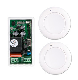Wholesale Ch Switches - Wholesale- 220 v 1 ch RF wireless remote control switch 1* receiver+2* transmitter More convenient circuit connection self-lock mode