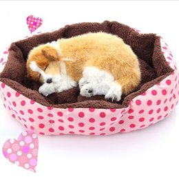 Wholesale Small Dog Houses - Promotion ! Pet Products Cotton Pet Dog Bed for Cats Dogs Small Animals Bed House Pet Beds Cushion High Quality Cheap D0091