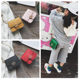 Wholesale Children Pu Bags - Newest Fashion Kid Messenger Bags Stylish Baby Handbag Toddler Chain Purse Child Designer Bag Baby Products Mini Bags Girl CM086