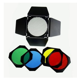 2017 snoot flash Diamètre 20cmphotographique Conique Snoot Grille en nid d'abeille Gel Filtre Rouge Jaune Vert Bleu pour Studio Flash Monolight Strobe GY se promotion snoot flash