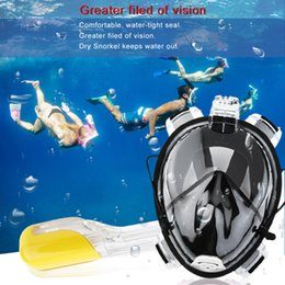 Wholesale Adult Diving Mask - Wholesale- Professional Adult Full Face Diving Mask Comfortable Waterproof Underwater Diving Mask Anti Fog Full Face Diving Mask Hot