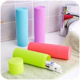 Wholesale Toothbrush Pencil - Simple corrugated travel toothbrush dental equipment storage box, toiletries, stationery Pencil cream storage