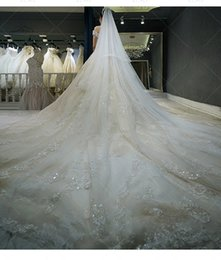 Wholesale Short Tier Wedding Veils - 2018 Cheap Real Image Wedding Dresses one Shoulder Appliques Lace Up Garden Country Wedding Bridal Gowns   send out free Veil Petticoat