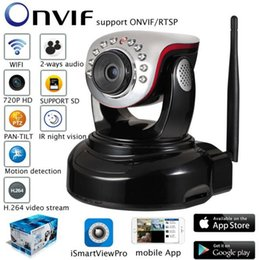 Wholesale Pan Tilt Remote - IP Camera 720P HD WIFI Camera Infrared Surveillance Camera P2P Baby Monitor CCTV Home Protection Mobile Remote Cam