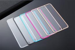 Canada Protecteur d'écran en verre trempé de conception 3D en alliage titane ultra-mince à bord incurvé pour iphone7 / 7 / plus / 6 / 6plus / 5 / 5s avec emballage en papier Offre