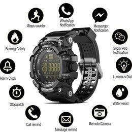 Wholesale Time Watching Camera - Time Owner Bluetooth Clock EX16 Smart Watch Notification Remote Control Pedometer Sport bluetooth Watch IP67 Waterproof Men's Wristwatch