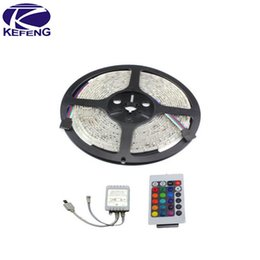 bande flexible néon led bleu Promotion Wholesale-Manufacture 3528 Led Strip étanche 60 Leds / m 12v Led Stripe 5m 300 Led RGB Blanc Rouge Vert Bleu Jaune, 5M / lot, Livraison gratuite