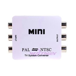 Wholesale Tv Format Ntsc - 30set lot wazney Mini HD PAL NTSC Mutual Conversion TV System Converter Adapter for Single-format Video Equipment