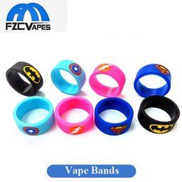 Wholesale Various Bands - New Arrival Superman Spider Man Vape Bands Anti Slip Silicon Band Various Colors for 22mm RDA RBA RDTA Sub Ohm Tanks