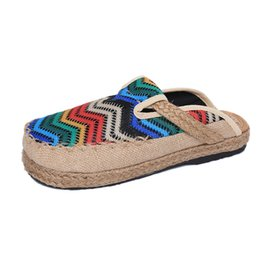 Wholesale Linen Fabric Sewing - 2017 New Spring women's shoes, cotton, linen, linen, slippers, casual, fashionable and breathable health slippers