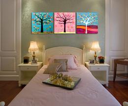 Dipinti soggiorno online-Salotto da salotto contemporaneo e contratto La camera da letto la testa di un letto pende dipinti HuaQiang dipinti murali senza pittura Sanlian