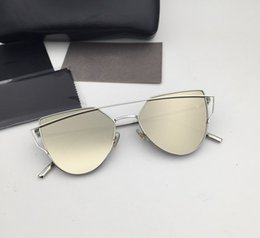 Wholesale Korea Sunglasses - Korea Bigbang high quality brand sunglasses oculos Love Vintage Gentle Men Women Luxury Brand With V Logo Punch Sunglasses with box