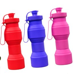 Wholesale School Water Bottles - Folding Bottle Silicone Water Drinking Outdoor Camping Travel Foldable Portable Retractable Cup Collapsible Flask Sports Cycling School