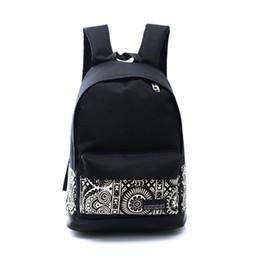 Wholesale Hot Style Laptop Bags - Wholesale- Hot Sale Backpack women Unisex Canvas Rucksack Shoulder Bag Book Boys Girls School Backpack Printing Laptop Backpacks Female