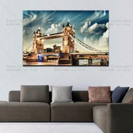 decorações de ponte Desconto Grande lona parede london tower bridge inglaterra pintura impressão em lona Wall Art Imagem Home Decoration Canvas Painting (Unframed)