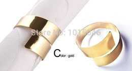 Wholesale Golden Napkins - Wholesale- Free Shipping 12 X Golden Special Iron Eight Circle Napkin Rings For Wedding Decoration