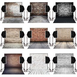 Wholesale Digital Wedding Cameras - 5x7FT bricks wall vintage photo background for wedding props camera fotografica digital cloth studio vinyl photography backdrops