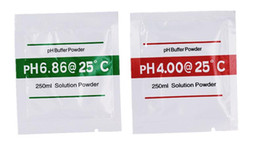 Wholesale Measuring Ph - 100Pcs PH Buffer Powder for aquarium PH meter PH Test Meter Measure Calibration Solution 4.01 6.86