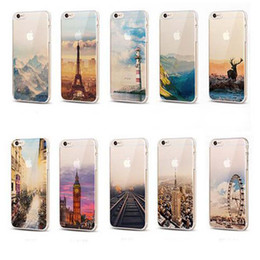 Wholesale Colourful Mobiles - For Apple iPhone 7 plus iphone 6 6S silicone case landscape Plating TPU cell phone cases colourful Mobile phone case with Elizabeth Tower
